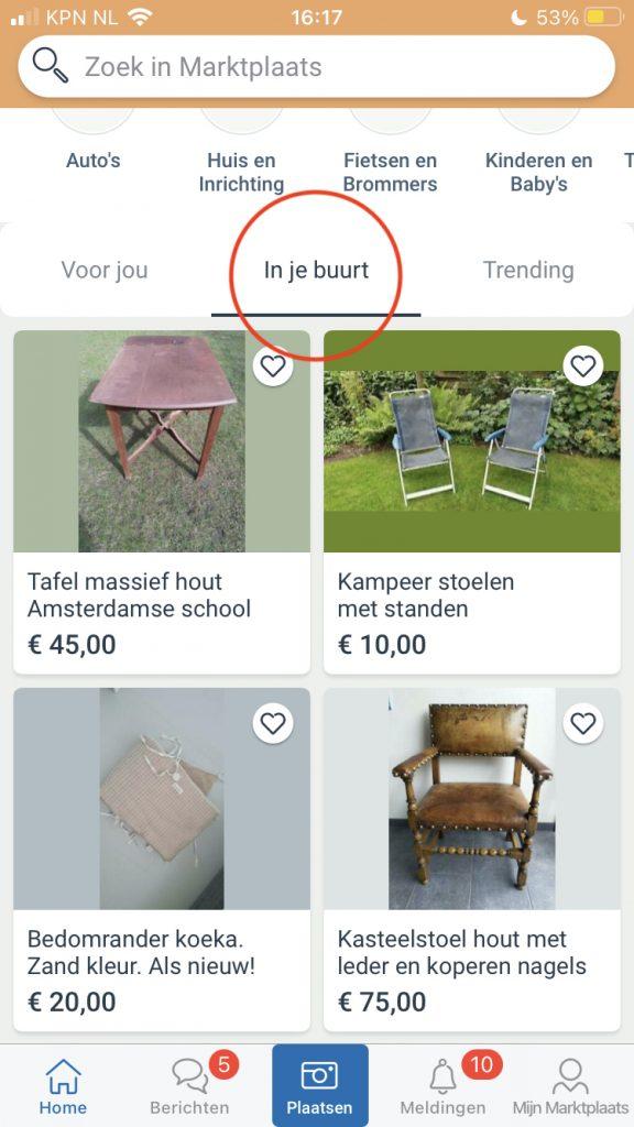Goede tweedehands meubels vinden op marktplaats